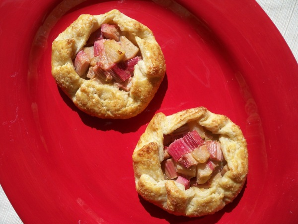 Galettes on Red Plate