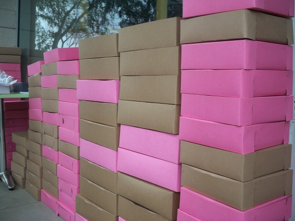 Brown and Pink Boxes