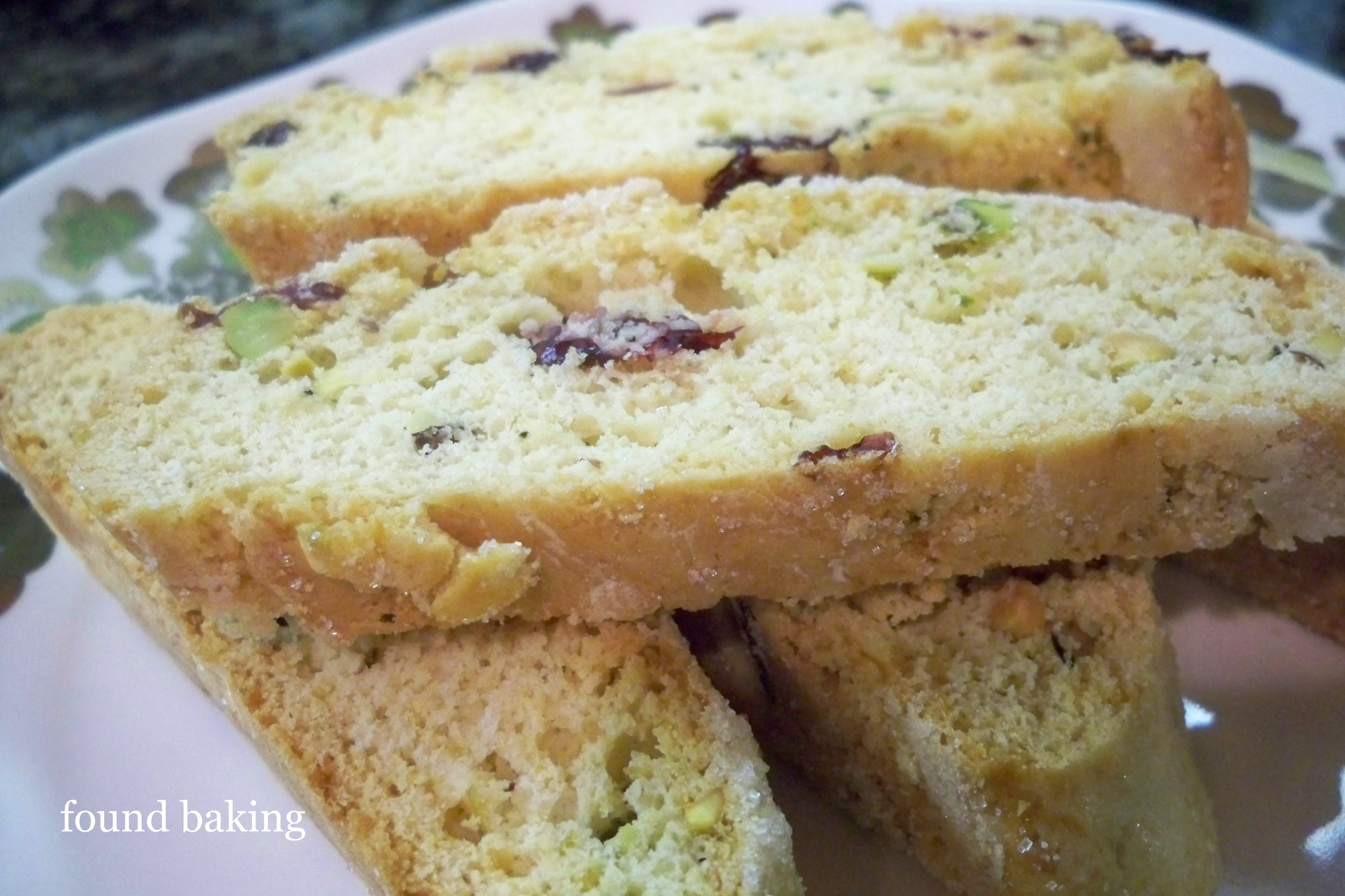 Pistachio Cranberry Biscotti Recipe — Dishmaps