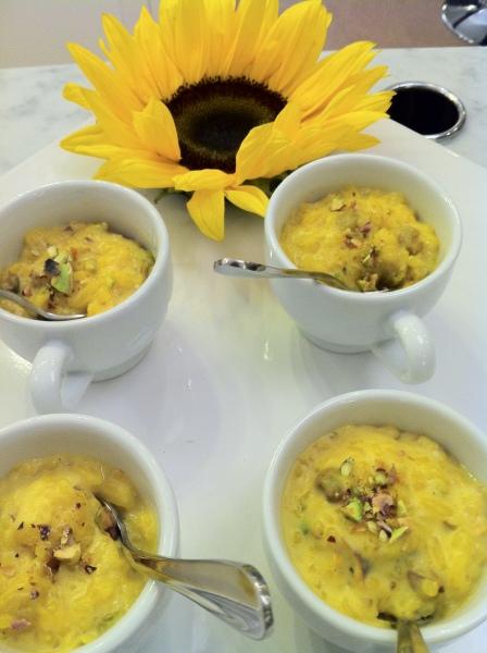 Saffron Pudding