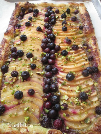 Blueberry-Pear Pistachio Tart