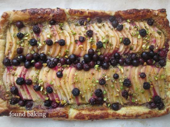 Blueberry-Pear Pistachio Tart